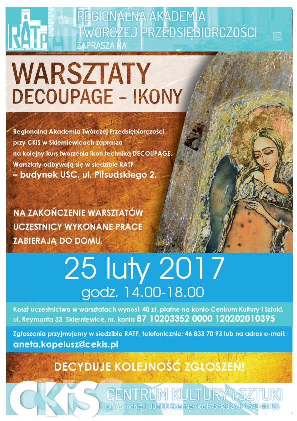 Plakat_ikony_warsztaty_decoupage